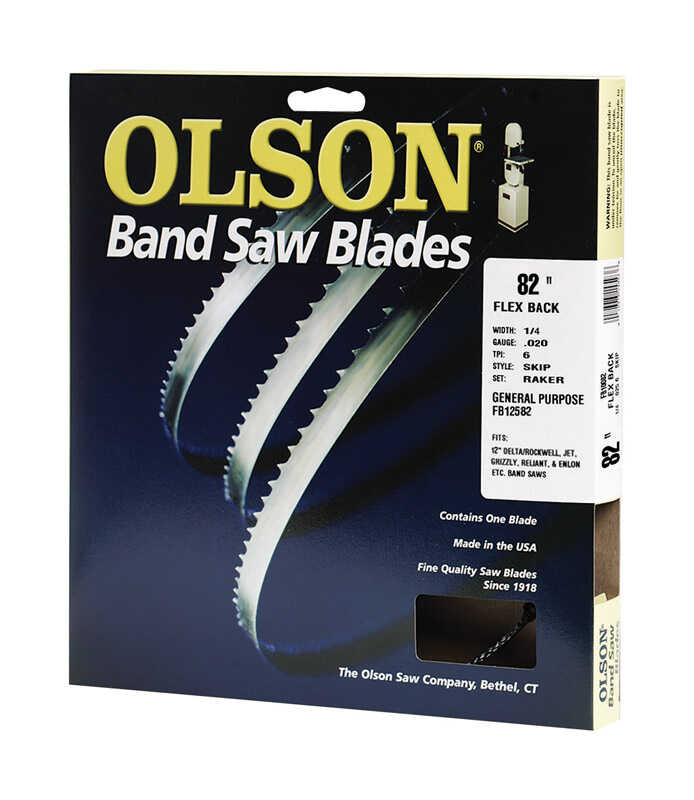 Olson  82 in. L x 0.3 in. W x 0.02 in. thick  Carbon Steel  Band Saw Blade  6 TPI Skip teeth 1 pk