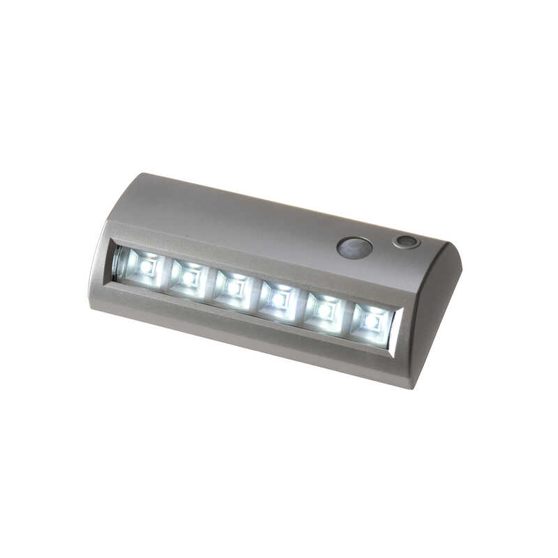 Fulcrum  LIGHT IT  Silver  Battery Operated  42 watts LED  Pathway Light  1 pk