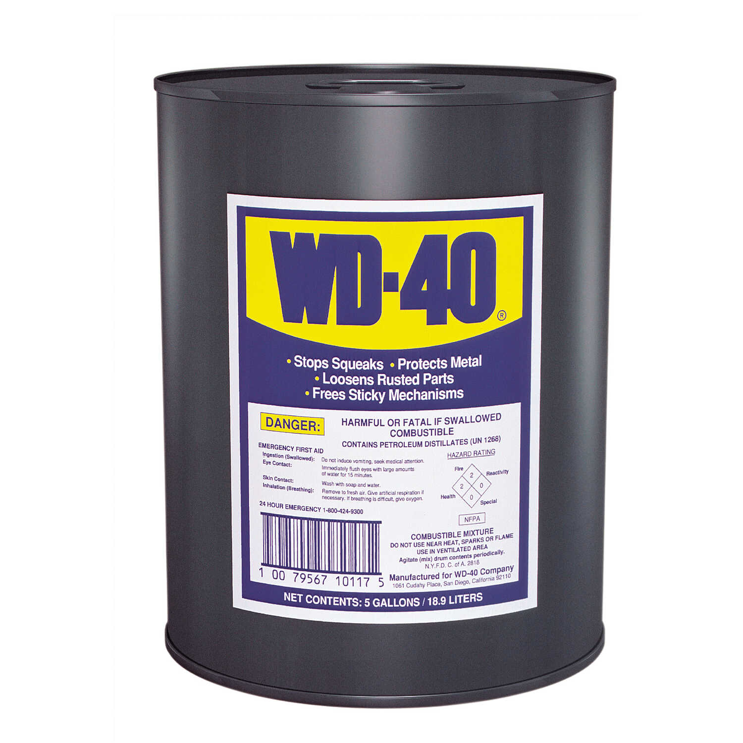 WD-40  General Purpose  5 gal. Lubricant  Drum