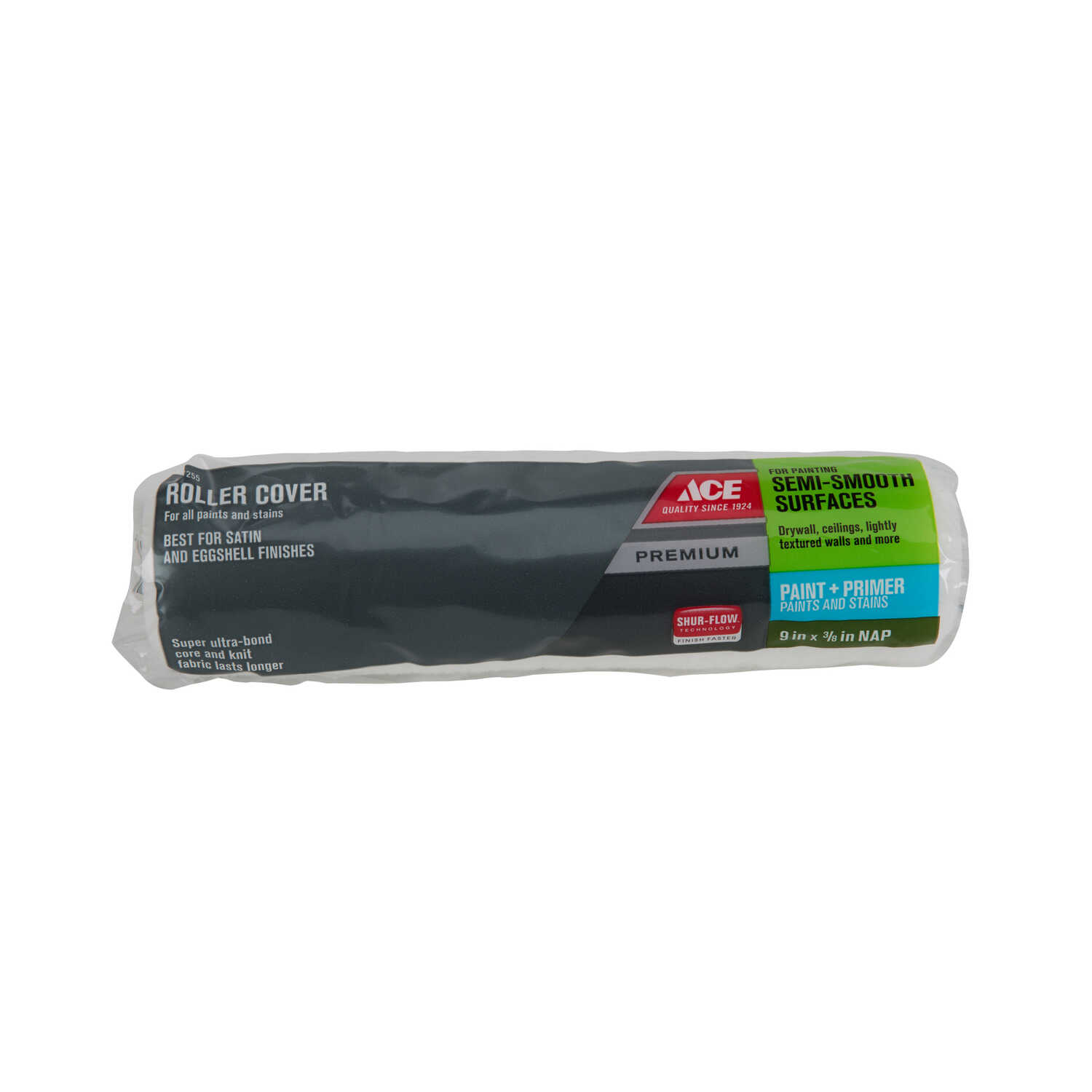 Ace  Premium  Knit  3/8 in.  x 9 in. W Regular  Paint Roller Cover  For Semi-Smooth Surfaces 1 pk