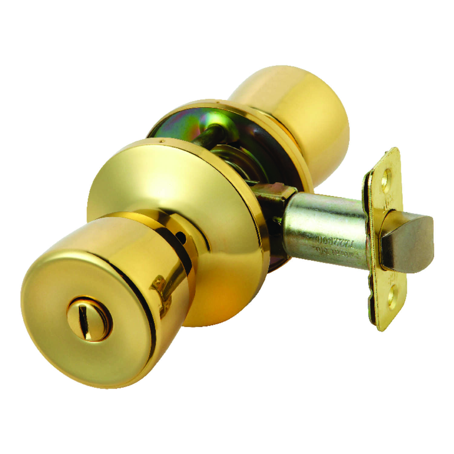 Ace  Tulip  Polished Brass  Privacy Lockset  ANSI Grade 3  KW1  1-3/4 in.