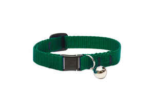 Lupine Pet  Basic Solids  Green  Nylon  Cat  Collar