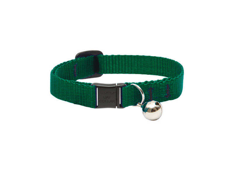 Lupine Pet  Basic Solids  Green  Green  Nylon  Cat  Collar