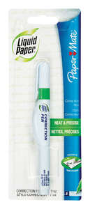 Papermate  White  0.24 oz. 1  Correction Pen