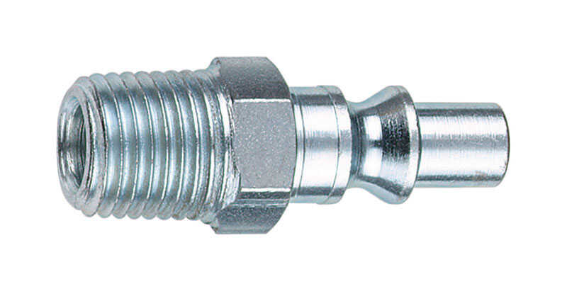 Tru-Flate  Steel  Air Plug  1/4 in. Male  1 pc.