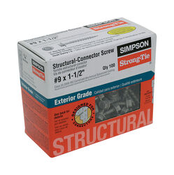 Simpson Strong-Tie Strong-Drive No. 9 x 1-1/2 in. L Star Hex Head Connector Screw 0.9 lb. 100
