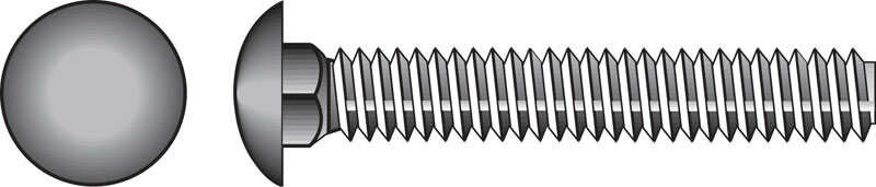 Hillman  1/2 in. Dia. x 6 in. L Zinc-Plated  Steel  Carriage Bolt  25 pk