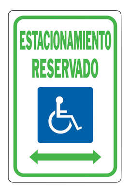Hy-Ko  Spanish  White  Informational  Sign  18 in. H x 12 in. W