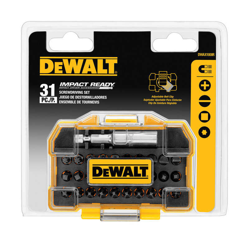 DeWalt  1 in. L x Multi Size in.  Screwdriver Bit  31 pc. 1/4 in.