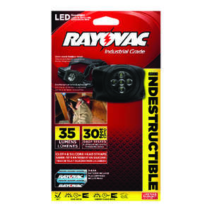 Rayovac  Workhorse Pro  50 lumens Black  LED  Headlight  AAA