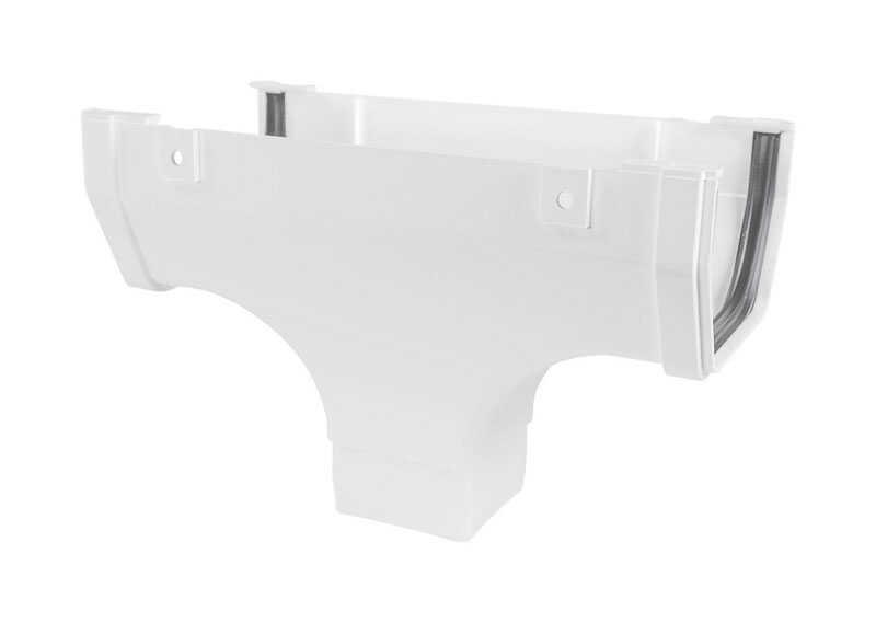 Genova  Highflo  White  Vinyl  Gutter Drop Outlet
