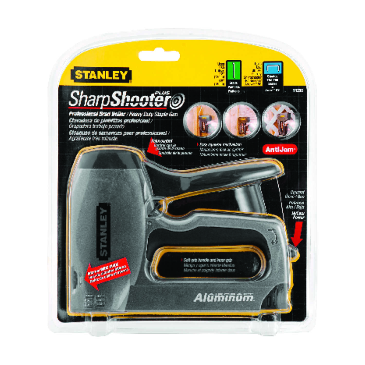 Stanley  SharpShooter Plus  Cordless  16 Ga. Stapler