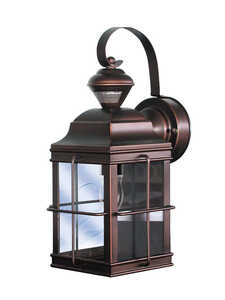 Heath Zenith  Motion-Sensing  Carriage Lantern  Metal