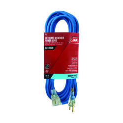 Ace Outdoor 25 ft. L Blue Extension Cord 14/3 SJOW