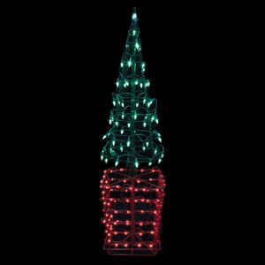 Celebrations  Tree  Red/Green  1 each Metal  LED Christmas Decoration