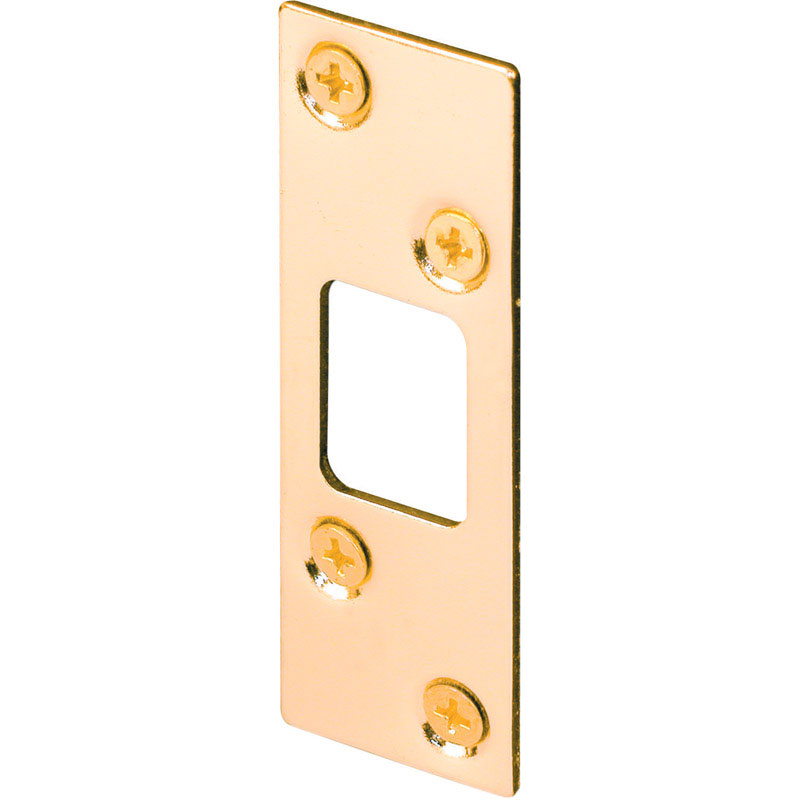 Prime-Line  3.6 in. H x 1.3 in. L Brass Plated  Brass  Steel  Security Strike