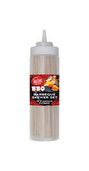 Tablecraft  BBQ  Brown/Clear  Bamboo/Plastic  Skewer Set/Squeeze Bottle