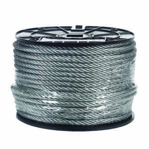 Campbell Chain  Galvanized  Galvanized Steel  5/16 in. Dia. x 200 ft. L Aircraft Cable