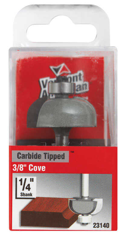 Vermont American  1-1/4 in. Dia. x 3/8 in.  x 2-3/16 in. L Carbide Tipped  Cove  Router Bit