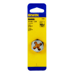 Irwin  Hanson  High Carbon Steel  Metric  Hexagon Die  12mm-1.25  1 pc.