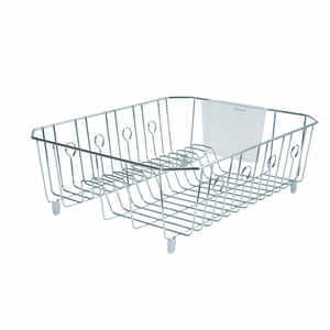Rubbermaid  5.9 in. H x 13.8 in. W x 17.6 in. L Steel  Dish Drainer  Chrome