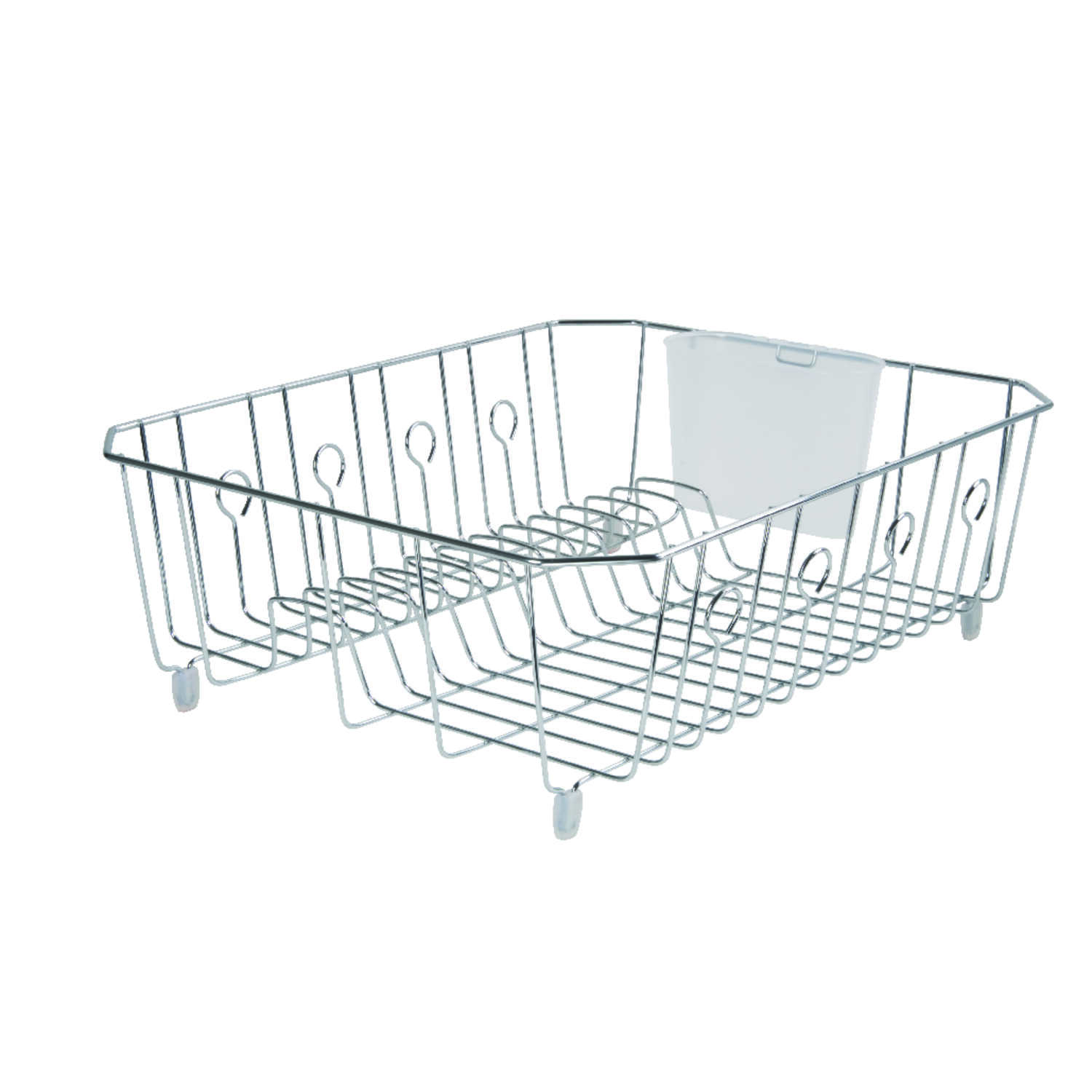 Rubbermaid  17.6 in. L x 5.9 in. H x 13.8 in. W Chrome  Steel  Dish Drainer