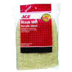 Ace  Polyester  Wash Mitt  10 in. L x 7 in. W 1 pk