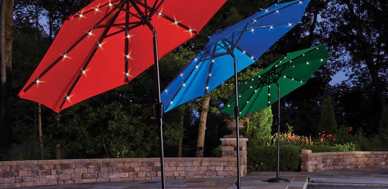 Living Accents 9 ft  Tiltable Royal Blue MARKET Patio