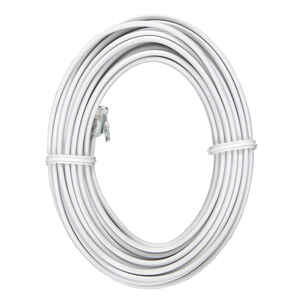 GE  15 ft. L White  Phone Line Cord
