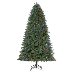 Celebrations  Grand Fir Slim  7 ft. Color Changing  Prelit Hinge  Memory Tree  600 lights