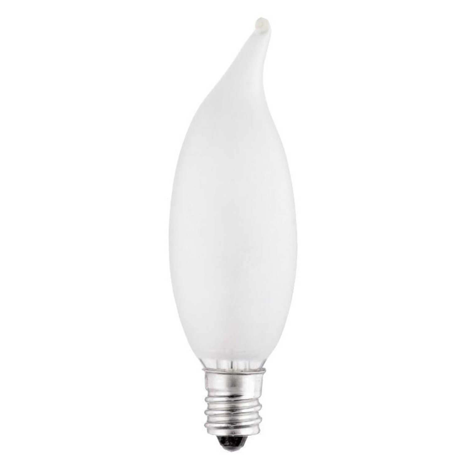 Westinghouse  15 watts E12  Incandescent Bulb  90 lumens Warm White  2 pk Decorative