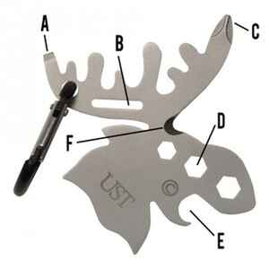 UST Brands  Tool A Long  Moose  Multi-Tool  Silver  1 pc.