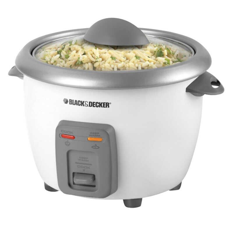 Black and Decker  White  6 cups Rice Cooker