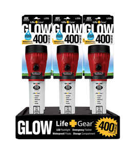Life Gear  Glow  12 lumens Red  LED  Flashlight  AA Battery