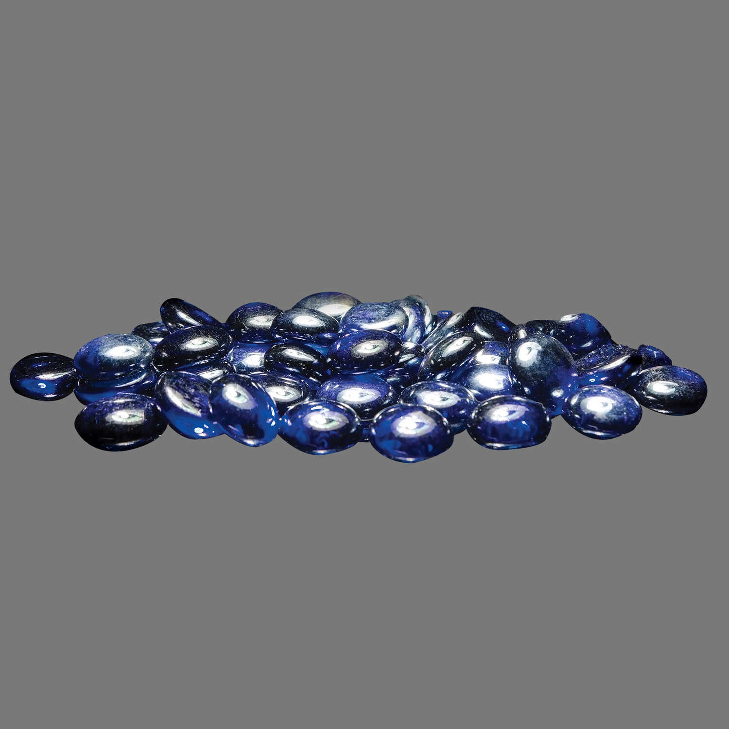 Bond  LavaGlass  Round Cut Indigo Dream  Glass  Fire Bowl Filler