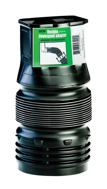 Flex-Drain  2 in. Snap   x 3 in. Dia. Snap  Downspout Adapter
