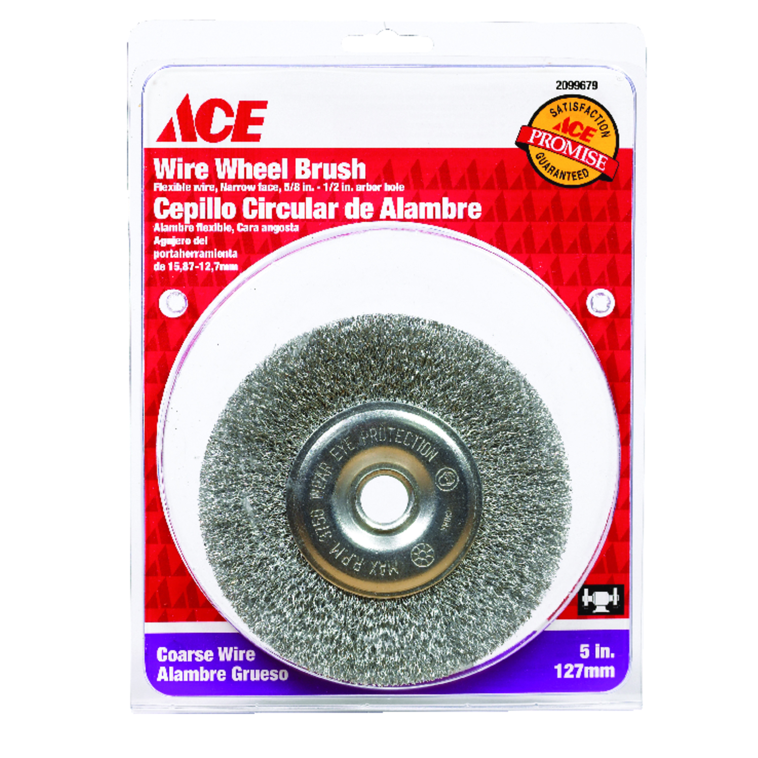 Ace  5 in. Crimped  Wire Wheel Brush  Steel  3750 rpm 1 pc.