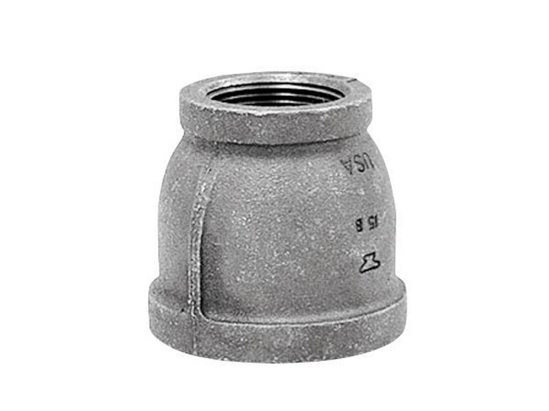 Anvil  1-1/4 in. Insert   x 1 in. Dia. Insert  Black  Malleable Iron  Reducing Coupling