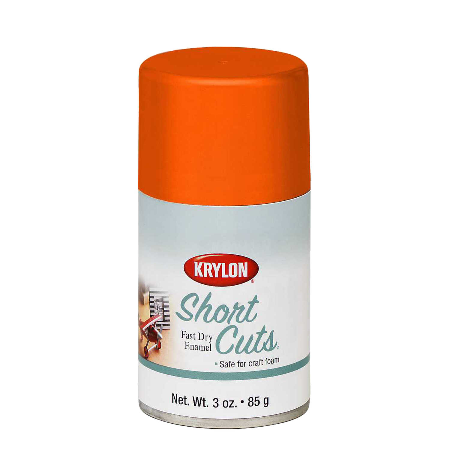 Krylon  Short Cuts  Gloss  Glow Orange  3 oz. Spray Paint