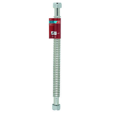 Ace 1 in. FIP x 1 in. Dia. FIP 18 in. Corrugated Stainless Steel Water Heater Supply Line