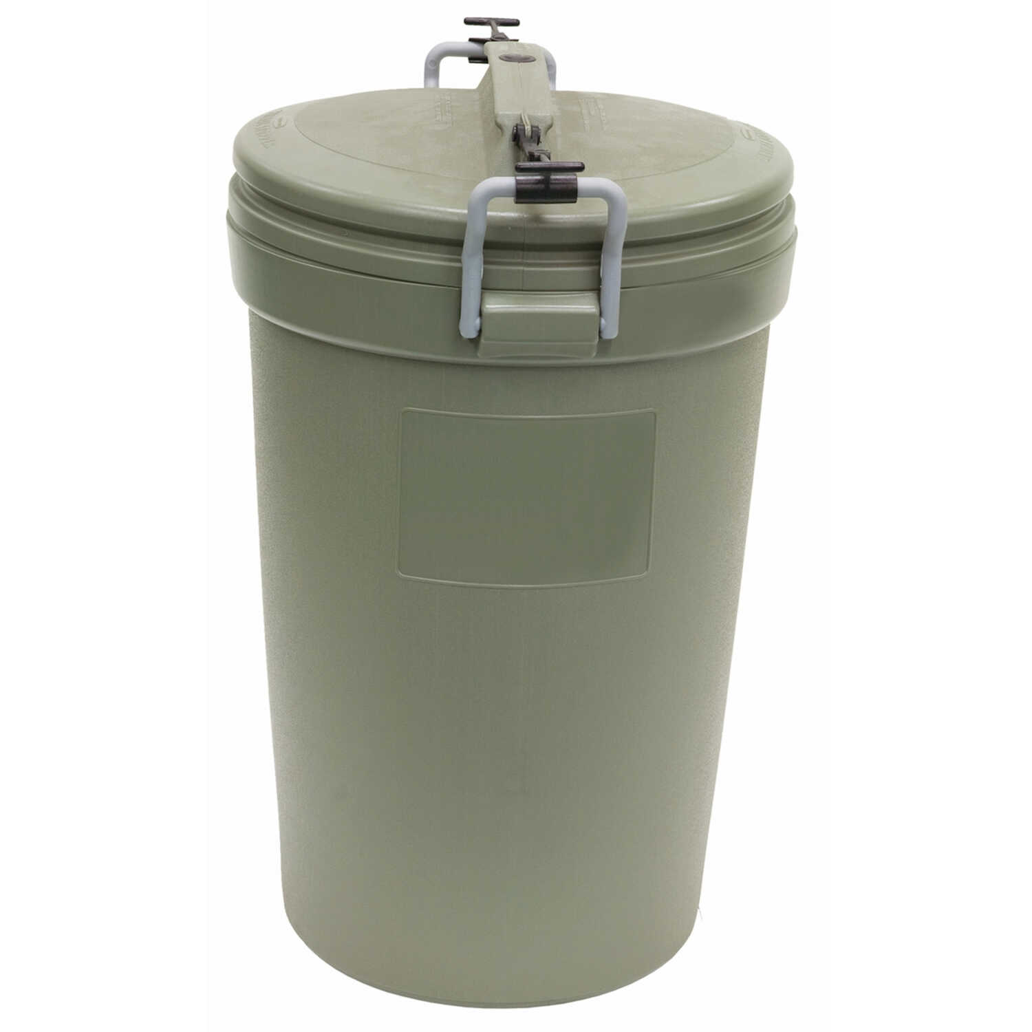 Rubbermaid  Animal Stopper  32 gal. Plastic  Garbage Can  Lid Included Animal Proof/Animal Resistant