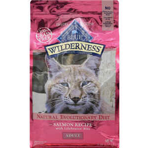 Blue Buffalo  Blue Wilderness  Salmon  Dry  Cat  Food  Grain Free 5 lb.