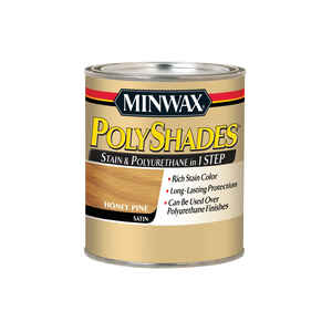 Minwax  PolyShades  Semi-Transparent  Satin  Honey Pine  Oil-Based  Stain  1 qt.