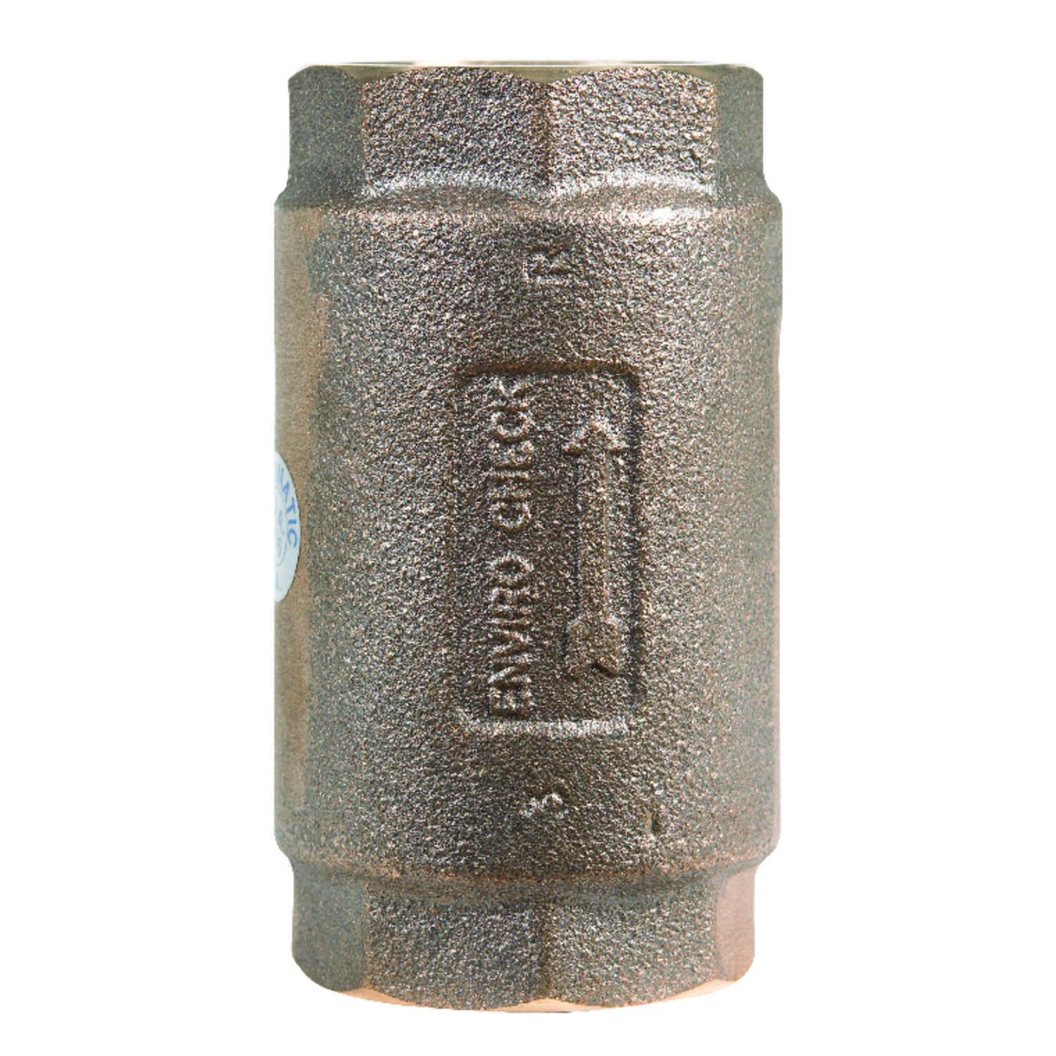 Campbell  1 1/2 in. 1-1/2 in. FNPT  Red Brass  Spring  Check Valve