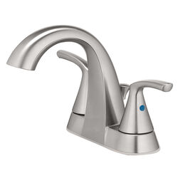 OakBrook  Pacifica  Brushed Nickel  Two Handle  Lavatory Pop-Up Faucet  4 in.