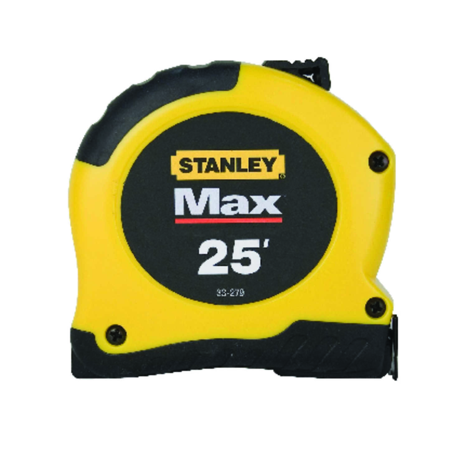 Stanley Max 25 Ft L X 1 13 In W Tape Measure Black Yellow 1 Pk