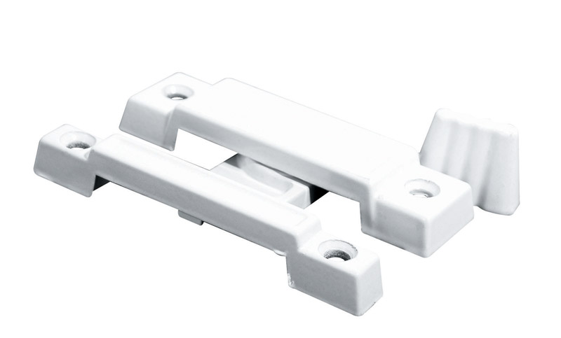 Prime-Line  Painted  White  Die-Cast Zinc  Sash Lock  1