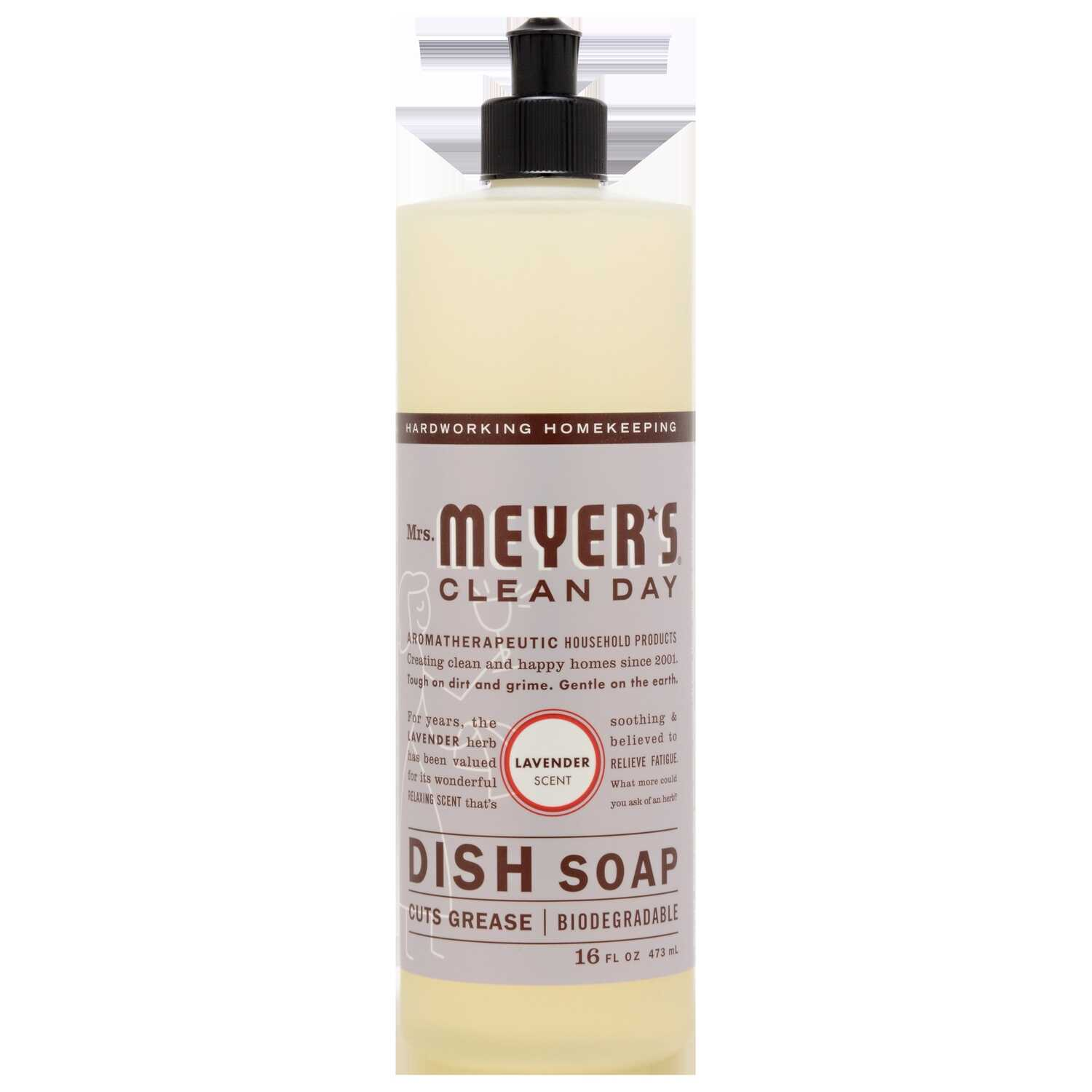 Mrs. Meyer's  Clean Day  Lavender Scent Liquid  Dish Soap  16 oz. 1 pk