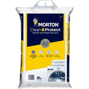 Morton Salt  Clean And Protect  Water Softener Salt  Pellets  40 lb.