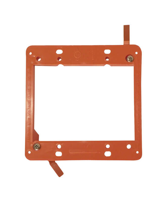 Cantex  Low Voltage  4-5/16 in. Square  PVC  2 gang Junction Bracket  Orange